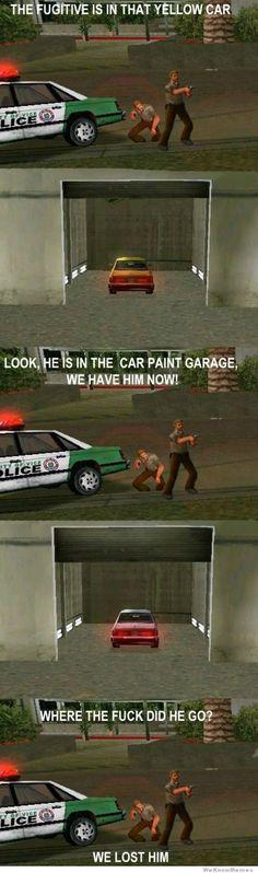 Video game logic II... love you GTA!