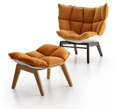 Italia modern soft cuhions ottoman design – Daily Furniture Magazine    If they had this in a burnt Orange, I would buy it.