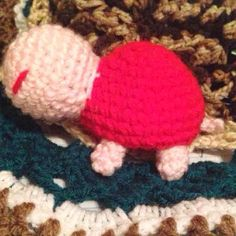 Crochet Petal Pink Amigurumi Turtles