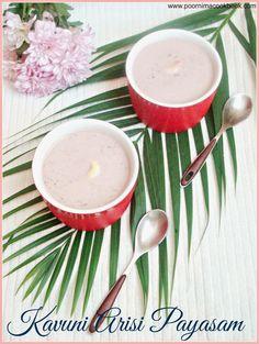 Black Rice Payasam / Kavuni Arisi Payasam