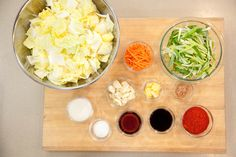 Kimchi: Unleash your inner Korean grandma with this spicy, stinky, pickled slaw. Fermented Cabbage, Fermented Foods, Asian Recipes, Healthy Recipes, Asian Foods, Cooks Illustrated Recipes, Kimchi Recipe, Americas Test Kitchen, Love Food