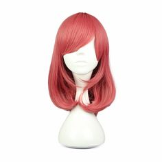 [Visit to Buy] MCOSER 44cm 17inch  Synthetic Hair Short Grils Straight Red Cosplay Wig 100% High Temperature Fiber WIG-560D #Advertisement