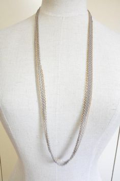 Gray chain necklace