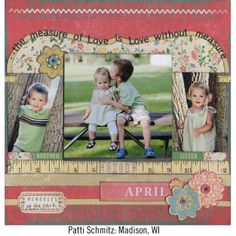 Spring Scrapbook Page# layout