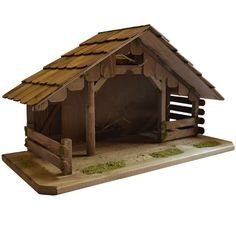 Stable for nativity scene Christmas Crib Designs, Christmas Crib Ideas, Christmas Pictures, Christmas Crafts, Nativity Stable, Christmas Nativity Scene, Nativity Crafts, Wooden Cradle, Wooden Cribs