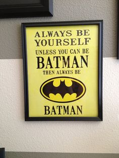 @Melanie Seaver This made me think of your little batman guy!  Batman wall art by SweetLoLoDesigns on Etsy, $15.00