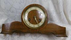 antike Kamin Uhr aus Holz mit 1/2 Stundenschlag Holz/Messing mit schlüssel läuft | Antiquitäten & Kunst, Mobiliar & Interieur, Uhren | eBay!