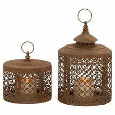 2-Piece Ophelia Candle Lantern Set