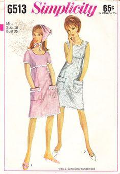 Vintage Misses' Empire Waist ALine Dress And by daisyepochvintage, $7.00