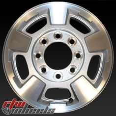 "Chevy Silverado wheels for sale 2011-2014. 17"" Machined Silver rims 5500 - https://www.rtwwheels.com/store/shop/chevy-silverado-wheels-for-sale-machined-silver-5500/"