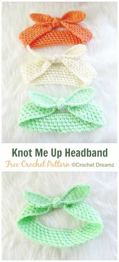 crochet hair accessories Fabulous Women Headband Free Crochet Patterns DIY How To Stitch Crochet, Crochet Yarn, Easy Crochet, Free Crochet, Crochet Hair Accessories, Crochet Hair Styles, Crochet Patterns For Beginners, Knitting Patterns, Easy Patterns