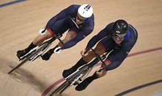 Jason Kenny (left) wins the gold against Callum Skinner during the men's sprint…