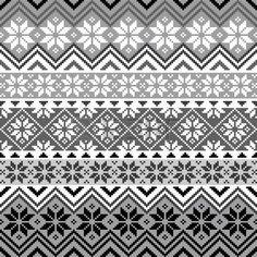Nordic Schneeflocke Muster Lizenzfreie Bilder