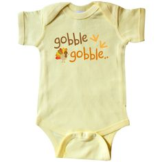 It's #Thanksgiving time and Mr #Turkey says #Gobble Gobble #Baby #Infant Creeper www.inktastic.com