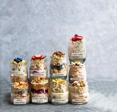 Overnight Oats - 9 Recipes + Tips for the BEST Easy Meal Prep Breakfast Make Ahead Oatmeal, Oatmeal In A Jar, Healthy Make Ahead Breakfast, Easy Overnight Oats, Healthy Snacks, Healthy Breakfasts, Eating Healthy, Healthy Eats, Healthy Recipes