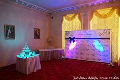 Оформление фуршетного зала на свадьбу