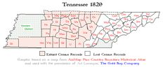 1820 Tennessee Census maps