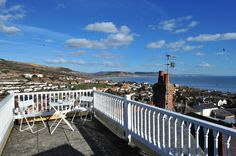 Roof terrace with sea views at Barnacles, Lyme Regis
