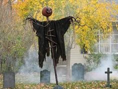 the legend of sleepy hollow yard display located in oakland nj - Easy Diy Halloween Yard Decorations