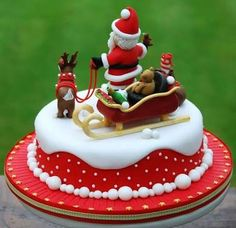 Image result for traditional decorated christmas cake