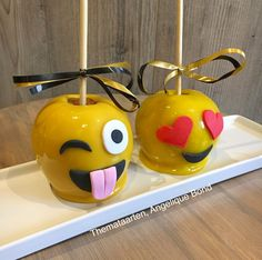 Smiley Candy apples made by Angelique Bond from the Netherlands