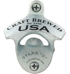 "This site has a lot of nice stuff for the home, and its all made in the USA - Starr X Wall-Mount ""Craft Brewed"" Bottle Opener Cast Aluminum"