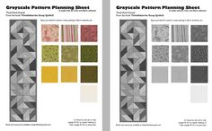 Quilt Pattern Planning Sheets: Designing Quilt Projects with Color Value
