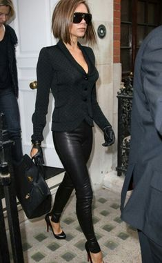 She might be to skinny and a bit fake to look at, but her style is always impecable!  Victoria Beckham