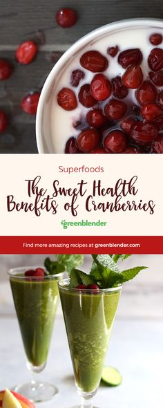 the sweet health benefits of cranberries by greenblender