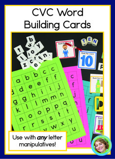 Kindergarten and preschool children need lots of practice sounding out words, and these adorable CVC cards make it easy and fun!  Skip the worksheets, give your students hands on learning activities by pairing your favorite letter manipulatives with these beautiful self checking cards.  There are 90 two sided cards - 18 for each vowel, so there's plenty for your whole class!   Add them to your literacy centers today and watch your flourish! Abc Learning, Hands On Learning, Learning Activities, Cvc Words, Sight Words, Sounding Out Words, Short Vowel Sounds, Word Building, Short Vowels