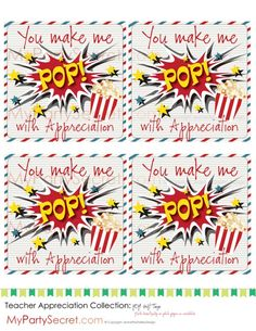 [DIY and crafts]Teacher Appreciation Gifts popcorn Employee Appreciation Gifts, Appreciation Quotes, Volunteer Appreciation, Teacher Appreciation Week, Staff Gifts, Volunteer Gifts, Teacher Gifts, Volunteer Ideas, Client Gifts