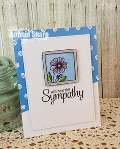 Your Next Stamp Framed Flowers stamp set, Whatnot Sentiments Seven stamp set and Swirly Fun paper #yournextstamp