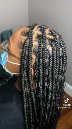 Braided Cornrow Hairstyles, Box Braids Hairstyles For Black Women, Faux Locs Hairstyles, Braids Hairstyles Pictures, Baddie Hairstyles, Braids For Black Hair, Small Box Braids Hairstyles, African Braids Hairstyles, Braids For Black Women