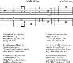 Shady Grove - Free Clawhammer Banjo Tab. http://www.nativeground.com/free-clawhammer-banjo-tabs/