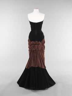 """Fripperies and Fobs - """"bustle"""" by Charles James, 1947"""