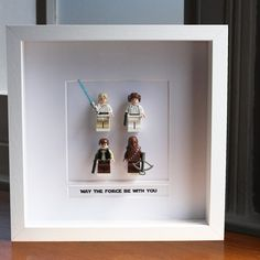 Such a cute way to display loved toys when kids (or your husband) is done with them.