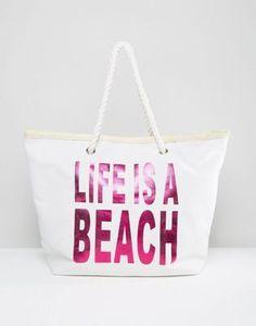 South Beach 'Life Is A Beach' Beach Bag