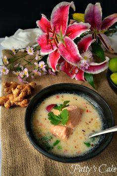 Sopa thai de salmón y leche de coco | Cocina