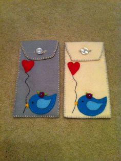 Felt bird glasses cases
