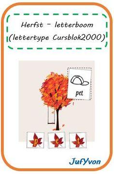 ©JufYvon: Herfst - Letterboom (Cursblok2000)
