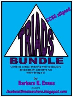 TRIADS Bundle = 3 products in one, netting you a 20% savings.  Contains Triads I, II, & III.  Great for HOTS!  $
