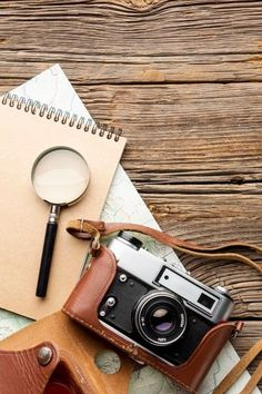 Download this Top view magnifying glass and camera Free Photo, and discover more than 11 Million Professional Stock Photos on Freepik. #freepik #photo #travel #trip #passport