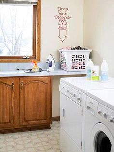 Laundry room cabinets give you more storage and style out of your washer-dryer space. Design smart laundry room cabinetry with our helpful tips. Small Space Laundry Room Storage, Laundry Room Colors, Laundry Room Sink, Small Laundry Rooms, Laundry Room Organization, Small Rooms, Small Spaces, Laundry Area, Colorful
