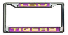 LSU Tigers Laser Cut Chrome License Plate Frame