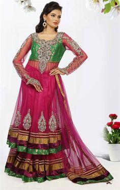 Picture of Premium Green and Magenta Color Designer Lehenga Choli