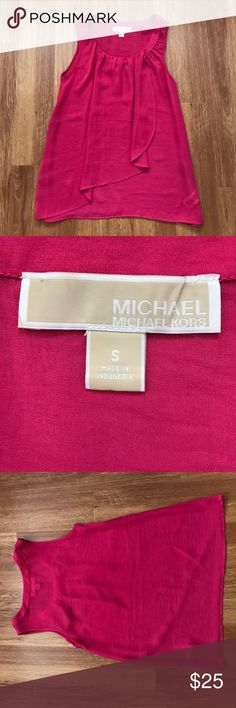 Michael Kors Sleeveless Top Pink Michael Kors Sleeveless Top. Worn once, excellent condition. Michael Kors Tops