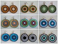 Schema orecchini tondi all'uncinetto: molto BuBBle!! - free pattern earrings crochet