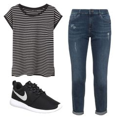 """""""School outfit #1"""" by danielle09-1 on Polyvore featuring NIKE and MANGO"""