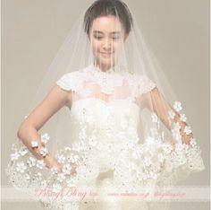1dbfa9ae90b07 Hooltprinc Stock High Quality Cheap Short Wedding Veils White Ivory One  Layer Lace Flower Bridal Veils 2017 Wedding Accessories