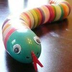 Make a Recycled Easter Egg Snake
